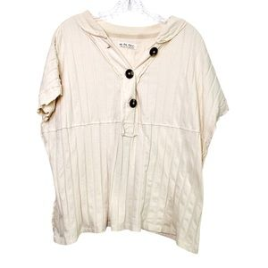 We The Free Cream Color Short Sleeve Shirt